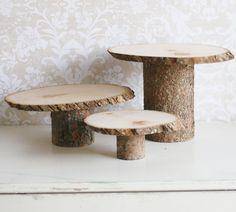 pie stand   ... Designs: Rustic Chic Wedding Tree Slice Cake Pie Dessert Buffet Stand