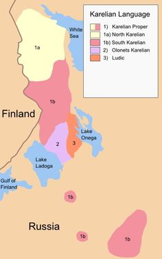 Mapalt fenno ugric culture pinterest language map of karelian dialects karelian language second worldrussian gumiabroncs Choice Image