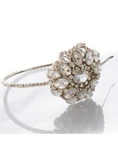 WOW!  MEG Jewelry Jeana Headband - stunning!! Wedding Couture for Every Girl @ www.itheebling.com