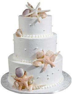 Starfish Beach Wedding Cake