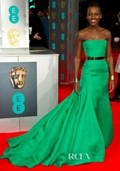 Lupita Nyong'o in Christian Dior Couture | 2014 BAFTA Awards