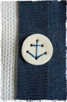 Anchor Button Tutorial A charming DIY: make your own buttons from polymer clay that can be stitched in place with an anchor.A charming DIY: make your own buttons from polymer clay that can be stitched in place with an anchor. Make Your Own Buttons, Fimo Polymer Clay, Nautical Anchor, Nautical Design, Button Crafts, Diy Clay, Clay Charms, Clay Jewelry, Jewellery