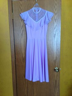 Vintage Lavender Ruffle  Dress