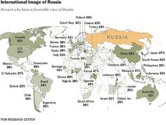 CULTURE - La carte du monde des opinions sur la Russie