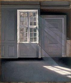 Vilhelm Hammershoi (Danish Artist, 1864–1916) Dust Dancing in the Sunbeams 1900