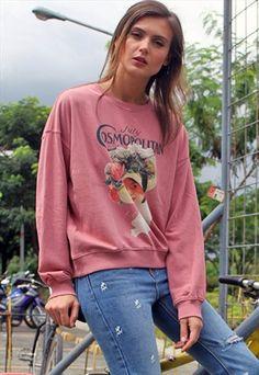 363 Printed+Pink+Sweatshirt