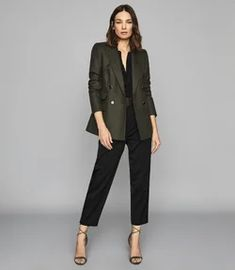 Formal Casual, Casual Tops, Leather Jacket Outfits, Blazer Outfits, Suits For Women, Jackets For Women, Clothes For Women, Ladies Suits, Business Professional Outfits