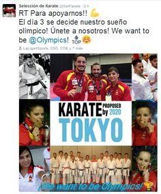 BUDOKAN blog de artes marciales : LA SELECCIÓN ESPAÑOLA DE KARATE PIDE APOYO EN LAS REDES SOCIALES PARA QUE SE CUMPLA 'SU' SUEÑO OLÍMPICO