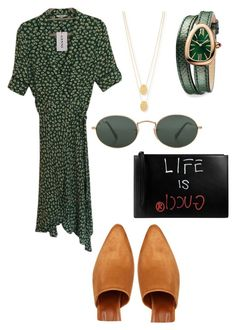 Untitled #27 by theaclemetsen on Polyvore featuring polyvore, moda, style, Ganni, Maryam Nassir Zadeh, Gucci, Jennifer Zeuner, Bulgari, Ray-Ban, fashion and clothing