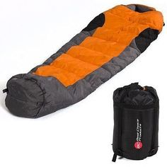 Mummy Sleeping Bag 5f15c Camping Hiking with Carrying Case Brand New *** Read more  at the image link.