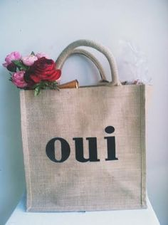 french reusable grocery bag by cabincitywoods on Etsy, $15.00