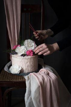Sabores y Momentos   Tarta de crema de mascarpone y bizcocho de vainilla  {Layer Cake para cumpleaños}   Mascarpone Cream and Vanille Birthday Layer Cake http://saboresymomentos.es