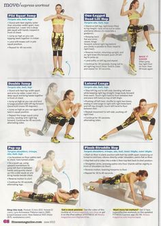 10-minute workout from Kira Stokes and Reebok Sports Club NY in Fitness magazine. This looks great!