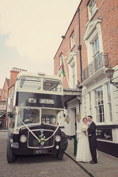 Double decker bus by the Heritage Bus Company. Photography by www.lissaalexandraphotography.com