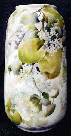 Celee Evans~Porcelain~Pears & Lilacs