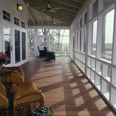 Wrap Around Deck With Part Sunroom Enclosed Design, Pictures, Remodel, Decor and Ideas