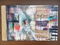 'just cause you feel it' - art journal spread by artist: Roxanne Coble
