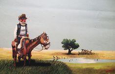Verdeysol: El arte de Molina Campos Western Art, Dory, Family Memories, Places To Travel, Folk Art, Westerns, Camel, 1, Hipster