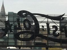 Back of old Pepsi Billboard, Long Island City, NYC in bkgnd