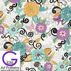FLOWERS Decal Dahlia II Pastel Colors Fused Glass or Ceramics