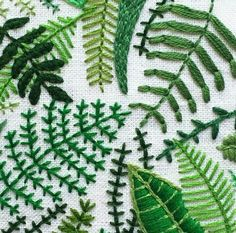 greenery #embroidery                                                                                                                                                                                 More