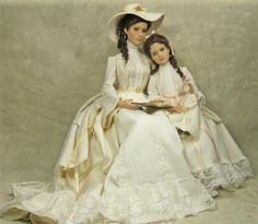 - Amy & Holly (Victorian era) I am absolutely in awe of these beautifully crafted dolls created by Cheryl Crawford!!  I love how she has transformed so many iconic charac...