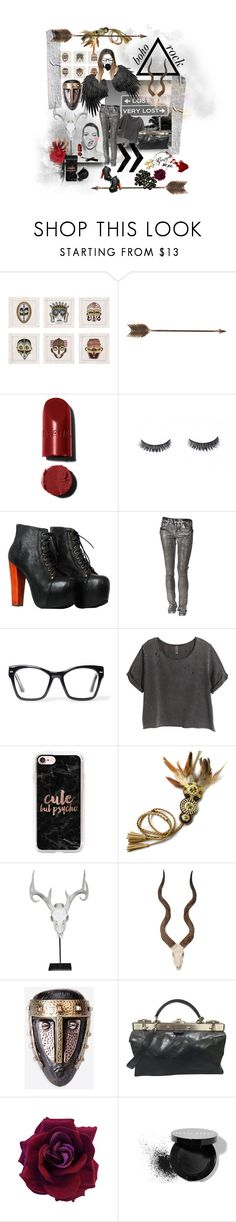 """lost"" by georgiadolls ❤ liked on Polyvore featuring Kim Seybert, Creative Co-op, Luxie, Jeffrey Campbell, Kill City, Spitfire, H&M, Casetify, Bob's Antlers and Palecek"