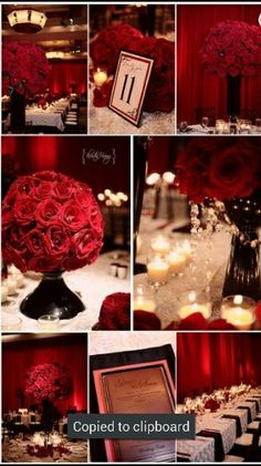 Black white red wedding... This is what I'm thinking for my wedding colors :)