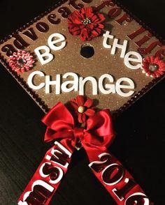 My USC graduation Cap! Master of Social Work! USC MSW 2016 Grad