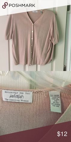 Short sleeved cardigan EUC. Small hole between the tags. Lord & Taylor Sweaters Cardigans