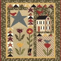 "Spring Has Sprung  Wallhanging Quilt Kit designed by Jan Patek.  Size:  42"" x 46"""