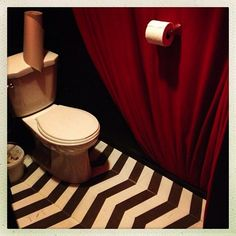 Twin Peaks red room inspired bathroom - America's Strangest Toilets