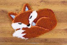 Kit tapis point noue renard endormi - Vervaco