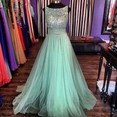Prom Dresses Be The College Prom Queen Tulle Floor Length Dresses 2015 Arrival Evening Dress Vestido De Festa Robe Soiree
