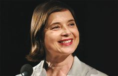 Isabella Rossellini has one of the warmest smiles ever. I want her to be my granny!