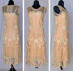 1920's day dresses | Vintage day dress ca. 1920s. | Green Light Garden Party