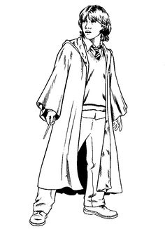 ron weasley coloring page harry potter coloringme