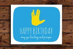 Star Trek Birthday Card Printable // by SomebodyLovedShop, $2.00