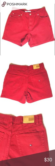 Tommy Jeans Shorts Red casual Tommy Hilfiger chino shorts. Comfortable and fashionable. Good condition. Tommy Hilfiger Shorts Jean Shorts