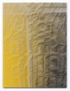 Tauba Auerbach Untitled (Fold) 2011 Acrylic on canvas / Wooden stretcher 60 x 45 inches  152.4 x 114.3 cm