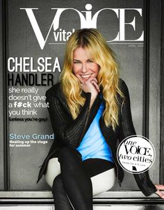 The Vital Voice Magazine April 2014  The Entertainment Issue - Chelsea Handler - Vital VOICE Magazine