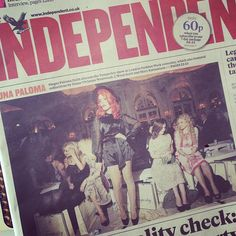 Front page news!!! #TemperleyLFW
