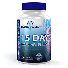Living Well Now 15 Day Natural Colon Cleanse Supplement For Detox And Weight Loss Super Flush For Colon And Improved Intestinal Health