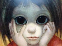 The Little Thinker  Big Eye Child   Margaret Keane by BellaMercato