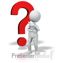 ID# 5562 - Question Mark Serious Thinker - PowerPoint Animation
