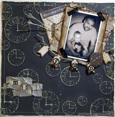 Layout: Daddy and Me - The Paper Mixing Bowl June 2012 Challenge