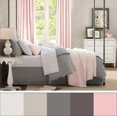 Pink And Grey Bedroom Ideas: Smart Ways to Apply Pink Bedroom Ideas Home Bedroom, Bedroom Decor, Bedroom Lighting, Peaceful Bedroom, Bedroom Romantic, Bedroom Office, Baby Bedroom, Bedroom Wall, Wall Decor