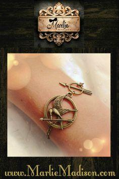 Mocking-Jay Bracelet  http://www.marliemadison.com/accessories/jewelry/mocking-jay-bracelet
