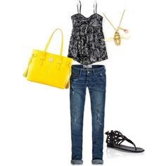 black and yellow summer outfit :)