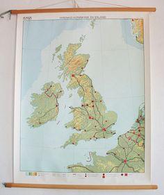 """""""Blinde"""" landkaart voor de topografielessen"""